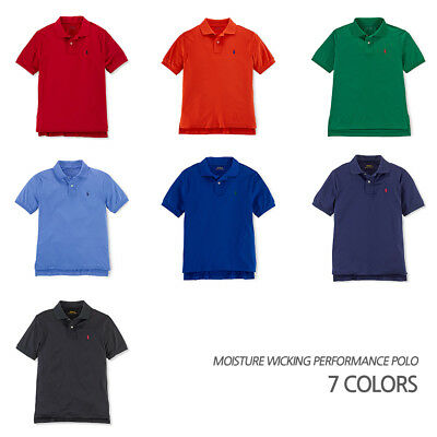 POLO Ralph Lauren Performance Boys Moisture Wicking Active Sports Polo NEW w Tag