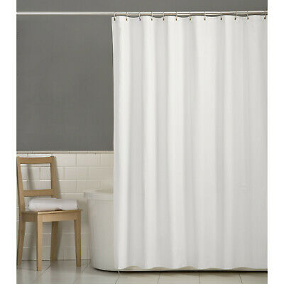 Deluxe Hotel Fabric Shower Curtain Liner With Metal Grommets White 70x72