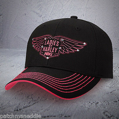 "Harley Davidson ""Ladies of Harley"" HOG Ball cap NEW NICE NWT Rebel fit"