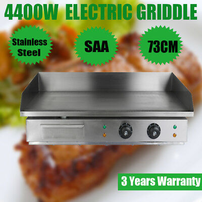 4400W Commercial Electric Griddle 73cm Countertop Grill 50°C to 300°C BBQ