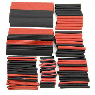 150X 8Sizes Assortment Heat Shrink Tubing Tube Sleeving Wrap Wire Kit Cable Hot