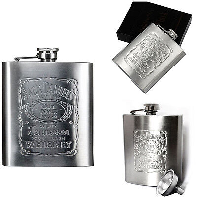 7oz Stainless Steel Pocket Hip Flask Alcohol Whiskey Liquor Screw Cap + Funnel