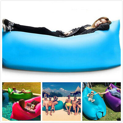 Outdoor Hiking Fast Inflatable Laybag Air Sleeping Lazy Bag Hangout Lounger Sofa