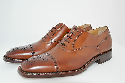 MAN-8eu-9usa-OXFORD CAPTOE-FRANCESINA-TAN CALF-VITELLO-LTH SOLE-SUOLA CUOIO