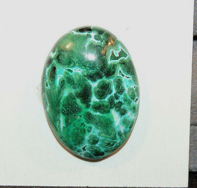 Malachite and Chrysocolla Cabochon 28x20mm with 7mm dome (10921)