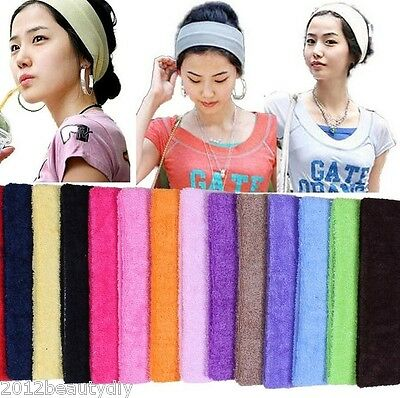 Absorb Sweat Yoga Hair Headbands Lead Cloth Towels With Wide Hair Scarf Candy