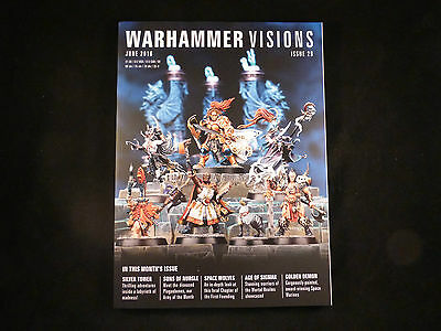 White Dwarf Warhammer Visions Issue 29 June 2016 -Features Nurgle & Space Wolves
