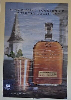 RARE! Woodford Reserve Distillery Bourbon Whiskey Kentucky Derby Window Sign