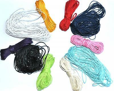 10 Metres of Waxed Cotton Cord String Thread Jewellery Craft Crafting 1mm gauge