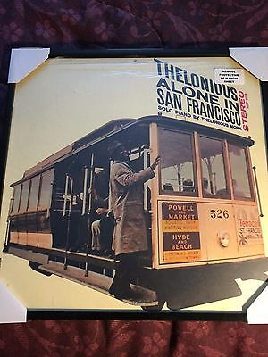 Framed Album Cover-Thelonious Monk-Alone In San Francisco, no record included