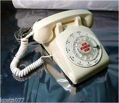 Vintage 1960's Northern Electric G3 Rotary Dial Desk Telephone, White / Cream
