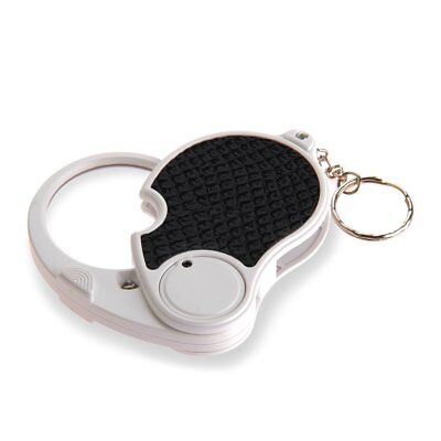 5 Trade Loupe Magnifying Glass with LED Lamp Pocket Magnifier Folding Keyring WS