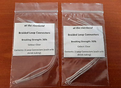 Clear Braided Loop Connectors for Fly Fishing
