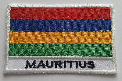 National Flag of Mauritius Patch Sew On or Iron On Embroidered Country Badge