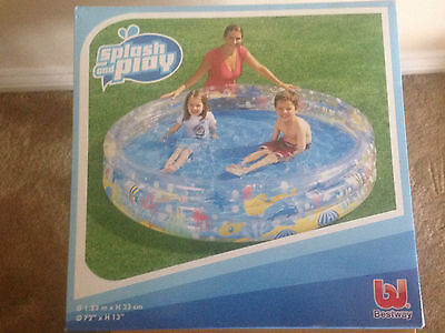 Best Way Splash and Play Paddling Pool kids  3 ring pool