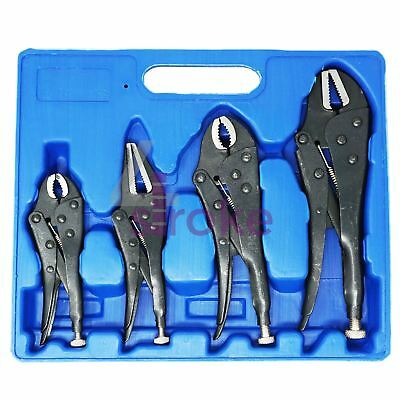 4 piece Heavy Duty Grip Wrench Set Vice Locking Lock Pliers Mole Grips Tools