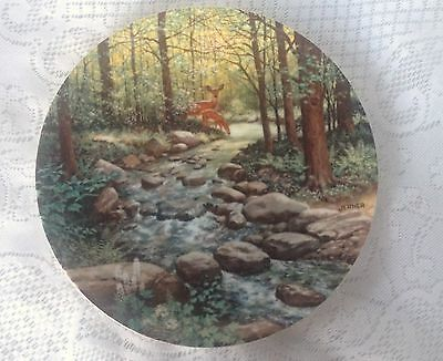 Knowles The Murmuring Stream Collector Plate Bart Jerner Road Less Travelled 64