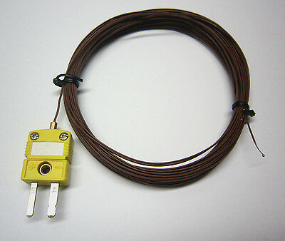 Extra Long 33ft 10m K-Type Thermocouple Wire for Digital Thermometer Temperature