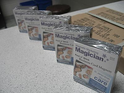 1,500 Self Adhesive Peel and Stick Business Card Promotional Magnets