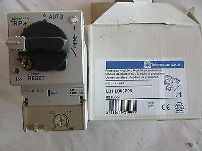 Telemecanique LB1LB03P06 Protection Module 1A - 1.6A LB1LB03P NEW!! in Box