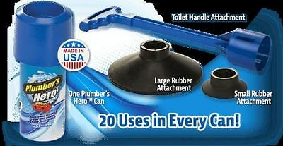 Plumber's Hero Kit, as seen on TV, unclogs shower, toilet, tubs and sinks