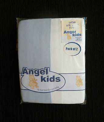 Baby clothes BOY 3-6m+ NEW! 2 fitted soft cotton cot sheets 40cmx94cm SEE SHOP!