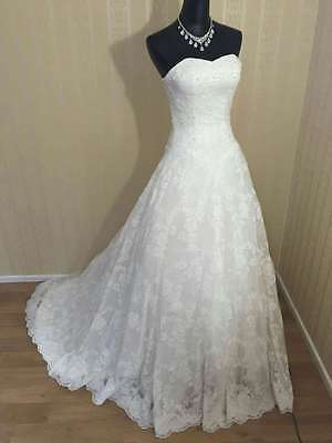 *** 024 New high quality French lace princess long wedding dress ***