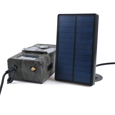Solar Panel Battery Charger External Power for Hunting Camera HC300M HC550M 700G