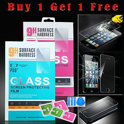 100% Genuine Tempered Glass Film Screen Protector For Apple iPhone 6S & 6 NEW