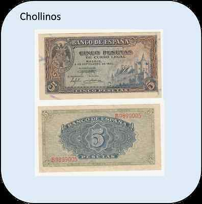 Billete De 5 Pesetas  Madrid  Año 1940  ( Ebc )    ( Mb8260 )