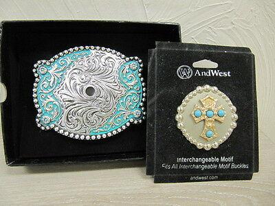 ANDWEST - Motif Buckle and Concho Collection - Various Styles - New