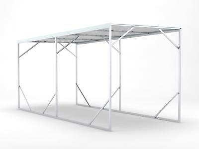 Carport 2.6m x 6.0m x 2.6m Frosted Roof Car Port Steel Portable RV Boat NEW