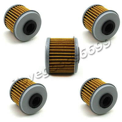 5x Oil Filter For HONDA CRF450X CRF450R TRX450R CRF150R CRF150F CRF250R CRF250X
