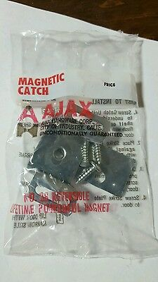 16 - Vintage  Chrome Ajax Magnetic  Door Catch  (New Old Stock)(NIP)no. 28