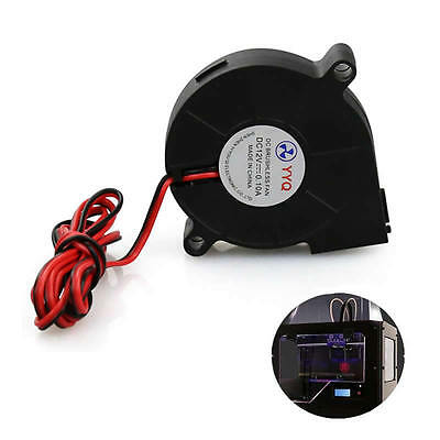 1Pc 12V DC 50mm Blow Radial Fan Cooling Hotend Extruder For RepRap 3D Printer