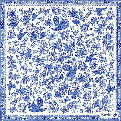 4x Paper Napkins for Decoupage Decopatch Blue Birds Flowers