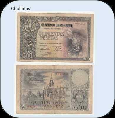 Billete De 500 Pesetas Madrid Año 1940 ( Bc )    ( Mb8269 )