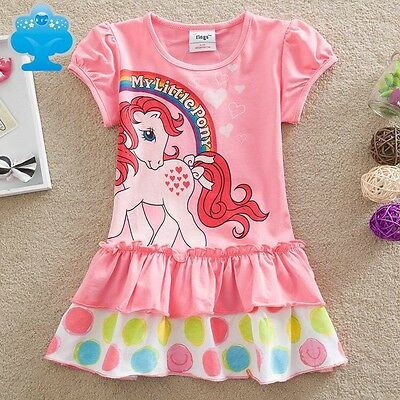 My Little Pony Girls Short Sleeved Printed Dress, Cotton, Sizes 2 - 6