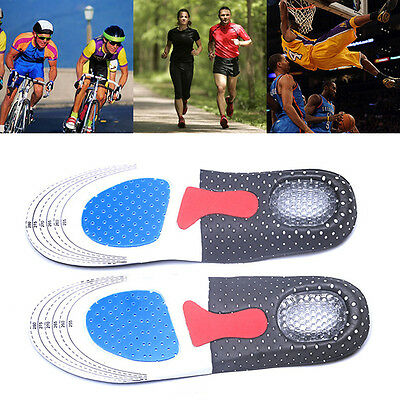 Men Women Sports Running Massaging Gel Arch Support Orthotic Insoles Shoe Pad