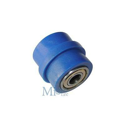 Blue 8mm Chain Roller Tensioner Pulley Wheel Guide For YZF KTM RMZ KLX CRF