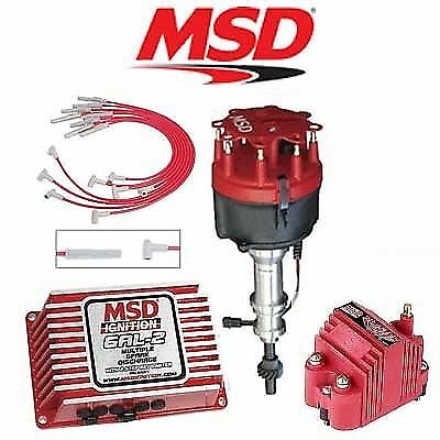 msd black ignition kit digital a distributor wires coil ford  msd 9168 ignition kit digital 6al 2 distributor wires coil ford