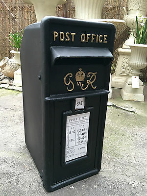 Cast Iron GR Post Box Royal Mail Post Box Black Vintage Post Box Black