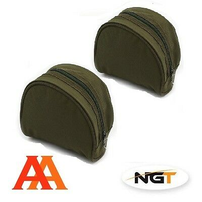 2 X Brand New NGT Padded Reel Cases For Carp Coarse Match Fishing Tackle