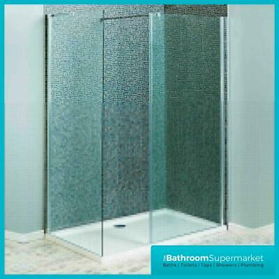 Shower Enclosure Walk In Wet Room Shower Tray Cubicle 8mm Glass Screen Panel