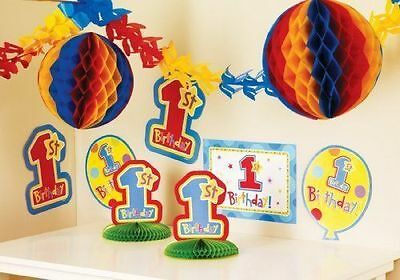 Boys 1st Birthday 10-Piece Room Decorating Kit by Amscan International