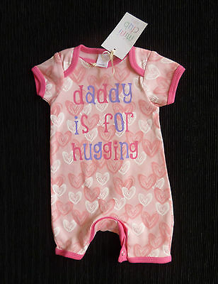 Baby clothes GIRL premature/tiny<7.5lbs/3.4kg pink heart short sleeve/leg romper