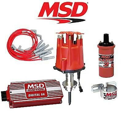MSD Ignition Kit - Digital 6A/Distributor/Wires/Coil/Bracket - Chrysler 318-360
