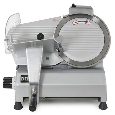 """10"""" Electric Meat Slicer Manual Gravity Feed Slicing Compact Food Restaurants"""