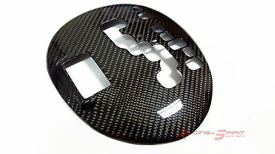 Real Glossy Carbon Fiber Gear Selector Panel Overlay For Rhd 99-05 Lexus Is300
