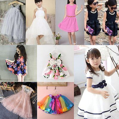 Flower Girls Princess Dress Kids Baby Party Pageant Wedding Tulle Tutu Dresses